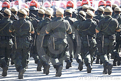 Armed Police Marching