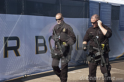 Armed Security Guards at Superbowl XLV Editorial Image