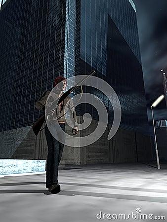 Armed vigilante