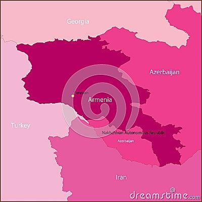Armenia map.