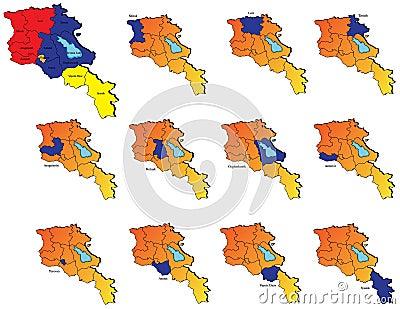Armenia provinces maps