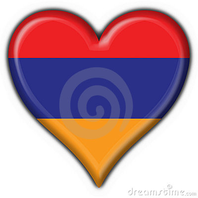 Free Armenian Button Flag Heart Shape Stock Image - 4172471