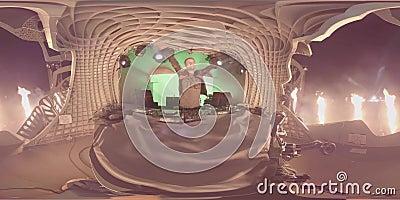 Armin Van Buuren vivant sur l'étape Vidéo 360 pour VR 4 k banque de vidéos
