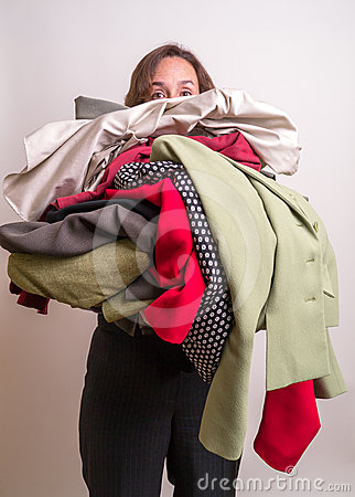 Armload of clothes
