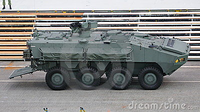 Armored personnel carrier Terrex at NDP 2011 Editorial Photography
