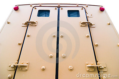 Armored vehicle doors