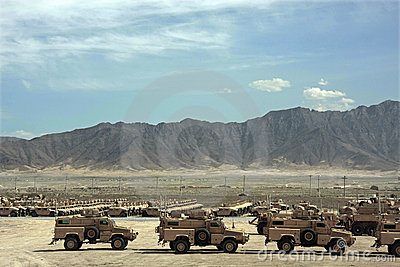 Armored Vehicles Ready for Issue in Afghanistan Editorial Photography