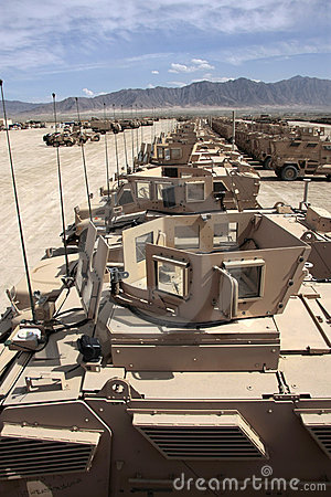 Armored Vehicles Ready for Issue in Afghanistan Editorial Stock Image