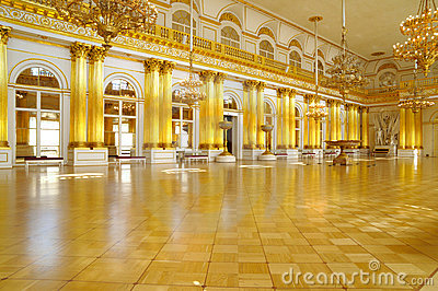 Armorial Hall of the Winter Palace, St Petersburg Editorial Image