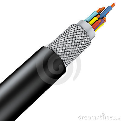 Armoured braid cable