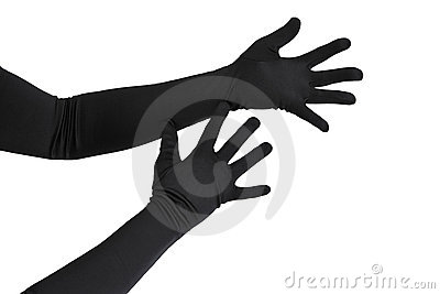 Arms with long gloves