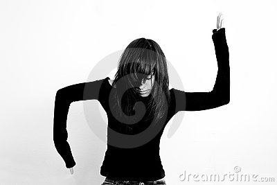 Arms Raised Girl Stock Photos - Image: 11910393
