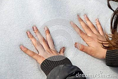 Arms on snow