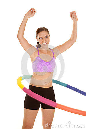 Free Arms Up Hoop Royalty Free Stock Images - 28097939