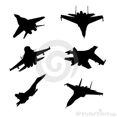Army airplanes Vector Illustration