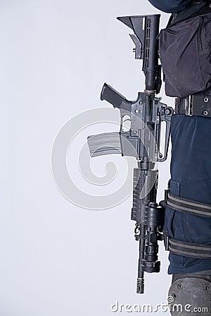 The army automatic machine-gun