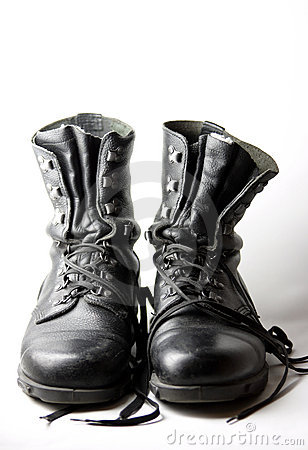 Free Army Boots Royalty Free Stock Images - 615689