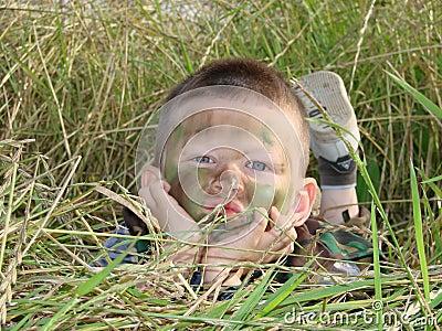 Army boy camoflauged
