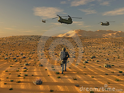 Army in desert