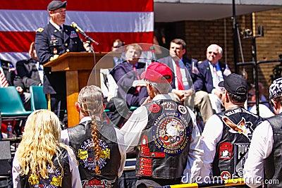 Army General speaks to Veterans Editorial Image