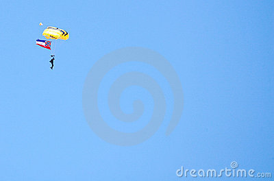 ARMY Golden Knight Paratrooper Editorial Image
