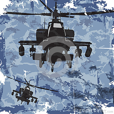 Free Army Grunge Background With Helicopter. Vector Royalty Free Stock Photos - 42408738