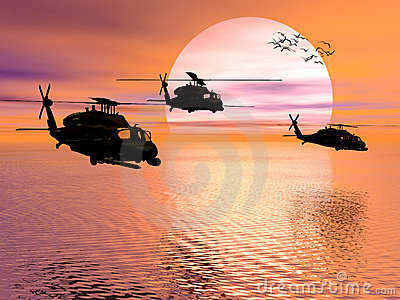 Army Helicopter, Black hawk