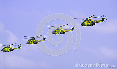 Army helicopters