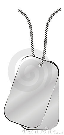 Army identity plates vector