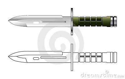 Army knief vector illustration