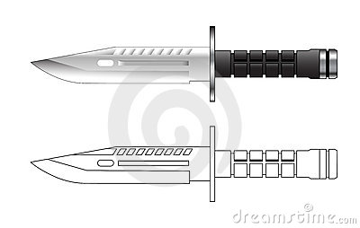 Army knief vector illustration