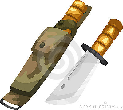 Army knife vector