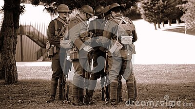 Army Mans Standing Under The Tree Free Public Domain Cc0 Image