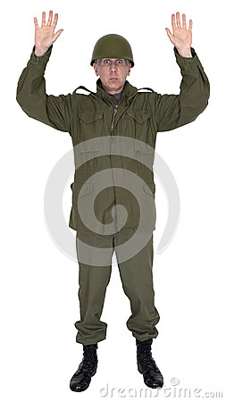 Army Military Soldier Surrender Isolated