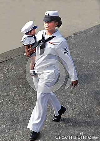 Army mom. Editorial Image