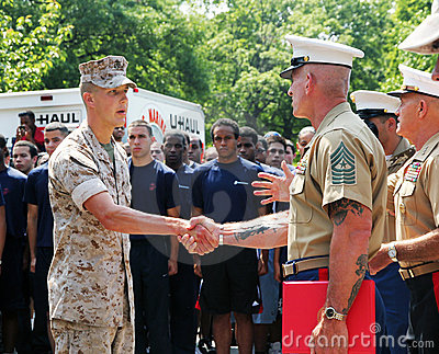 Army promotion ceremony. Editorial Stock Photo