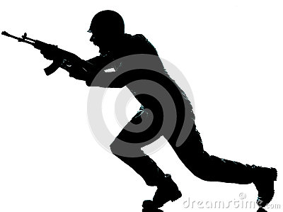 Army soldier man on assault