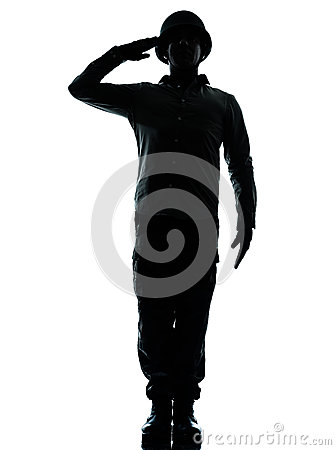Army soldier man saluting