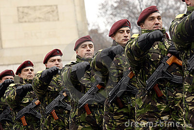 Army soldiers in formation Editorial Stock Photo