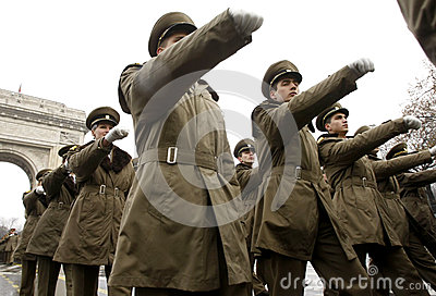 Army soldiers in formation Editorial Photography