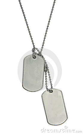 Army tags isolated