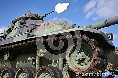Army Tank Firing Gun