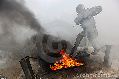 Army training Editorial Photo