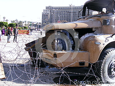 Egyptian army truck Editorial Image