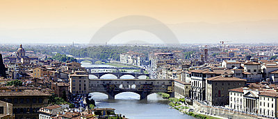 Arno river Florence bridges