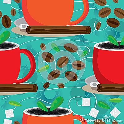 Aroma Around Coffee Seamless Pattern_eps