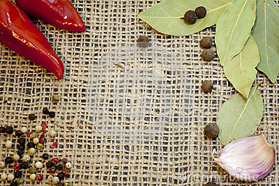 Aroma spices on jute