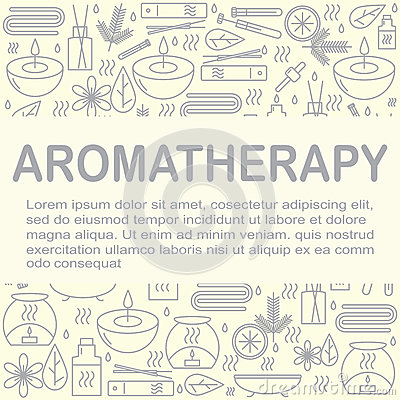 Free Aromatherapy. Background With Icons For Aromatherapy And Relaxation With Place For You Text. Pattern For Design. Royalty Free Stock Images - 78410249