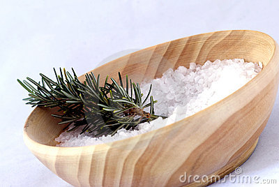 Aromatherapy - bath salt and rosemary