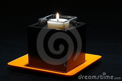Aromatherapy Candle in Stylish Contemporary Holder